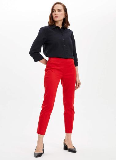 DeFacto Regular Fit Uzun Kollu Gömlek Siyah